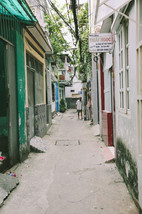 Small alley in District 10, Saigon