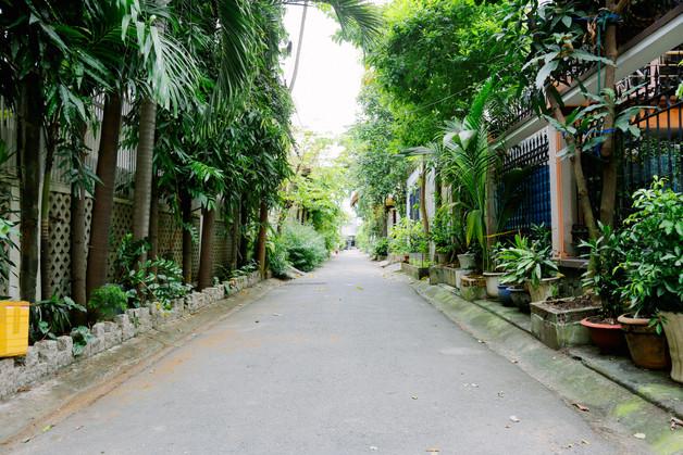 Street in Lang Bao Chi village, District 2, Saigon
