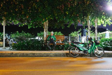 Early morning on Truong Sa street, Tan Dinh district, Saigon