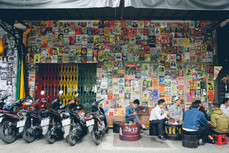 Motorcycle cafe, Tan Dinh district, Saigon