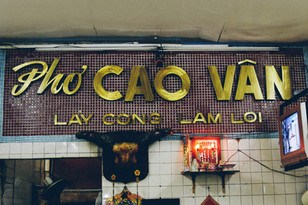 Pho Cao Van, Mac Dinh Chi street, District 1, Saigon