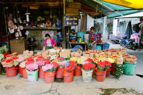 Ho Thi Ky flower market, District 10, Saigon