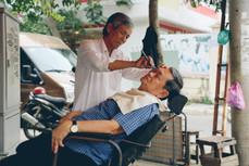 Haircut on the corner, District 2, Saigon