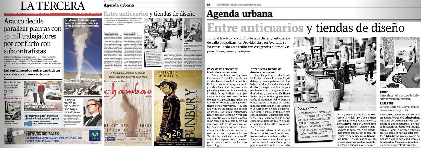 Diario la tercera 26 sept 2009 agenda urbana.jpg