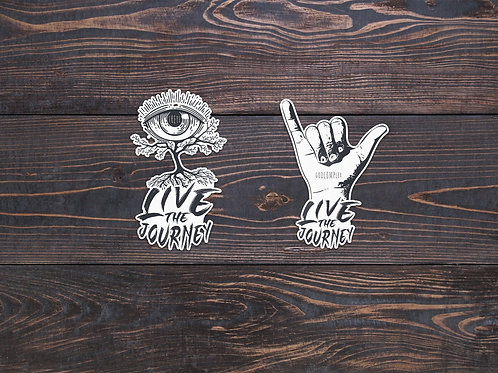 Live The Journey Stickers