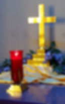 Vigil Candle and Cross