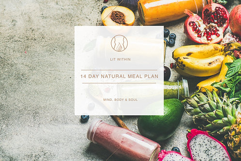 14 Day Natural Meal Plan