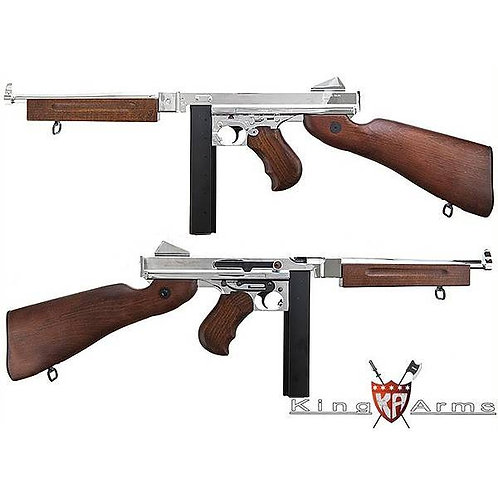 King Arms Classic Thompson M1A1 Military Special AEG - Silver (No Original Box)