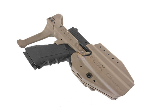 FLUX Collapsible Stock For Marui / Umarex (VFC) Glocks With Holster Set DE