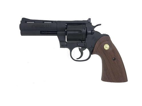 "FLW x King Arms 4"" Python 357 City Hunter Style Marking Gas Revolver - BK Custom"