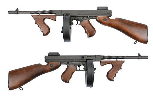 King Arms Metal Real Wood Thompson M1928 Chicago AEG Real Wood Black