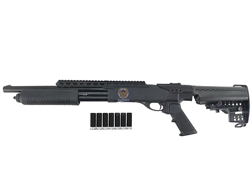 PPS M870 Tactical w/ MOD Stock Pump Action Gas Shotgun - BKT (7 x Dytac shell)