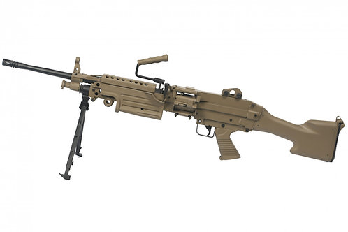 A&K FN M249 MKII SAW Light Machine Gun AEG - Dark Earth