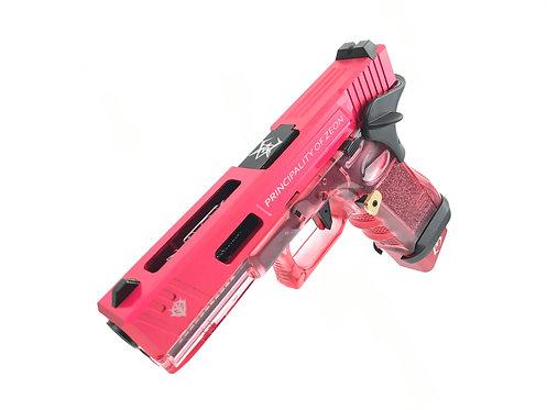 Flintlock Workshop Custom Char's Style G17 GBB with Red Transparent Frame