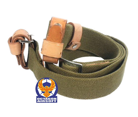 PPS Leather Sling For Mosin-Nagant Rifle Green