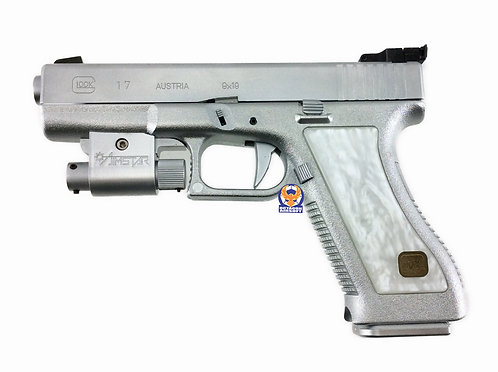 MGC Glock 17 Silver Limited Edition GBB Toy Pistol