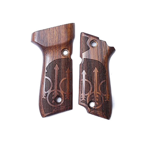 Kimpoi M93R Hand Carved Real Wood Grip Type C For KSC/KWA M93R S7 GBBP W/H LOGO