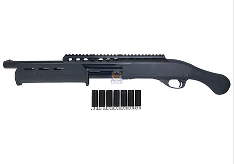 PPS M870 TAC 14 Pump Action Gas Shotgun with Dytac 7 Shells Set & RAS System