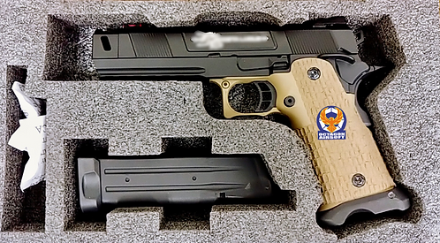 ARMY R501 High Capacity 5.1 Cost Style GBB Pistol with Full Marking Custom 2Tone
