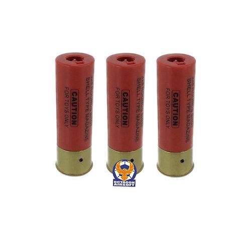A&K 24rds Shells 3pcs Set For A&K 3 Rounds Burst Air Cocking Shotguns