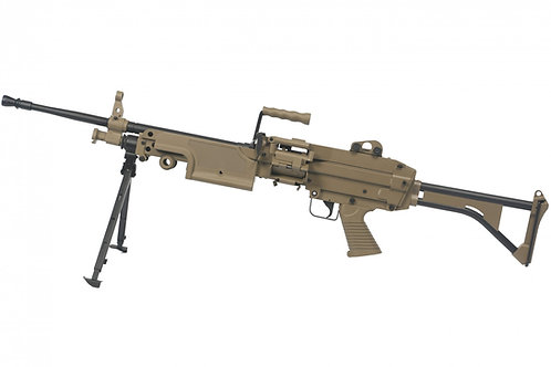 A&K M249 MK1 SAW Light Machine Gun AEG Dark Earth