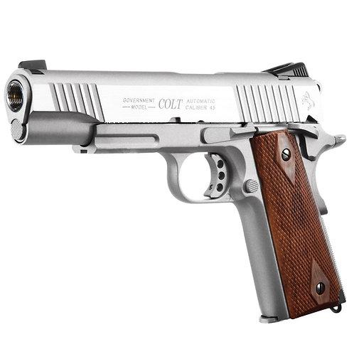 Cybergun Colt 1911 Rail CO2 GBB Pistol - Silver