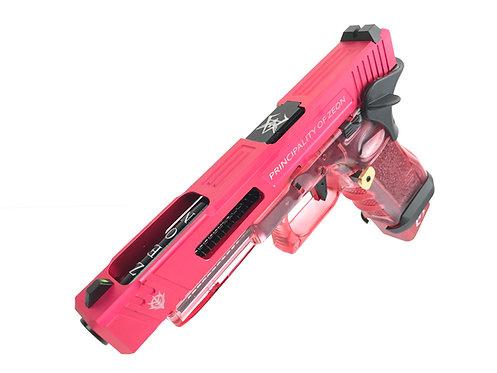 Flintlock Workshop Custom Char's Style G34 GBB with Red Transparent Frame