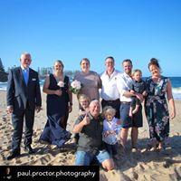 Beach wedding photo by Paul Proctor Phot