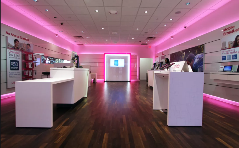T-Mobile - Inside of Store