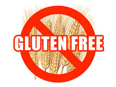 Gluten free image of wheat and red cross