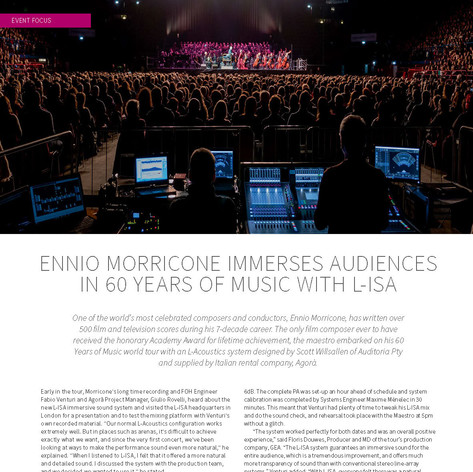 Morricone on L-ISA