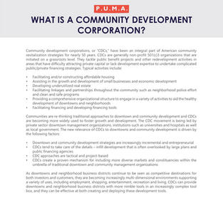 Community Development Corporations