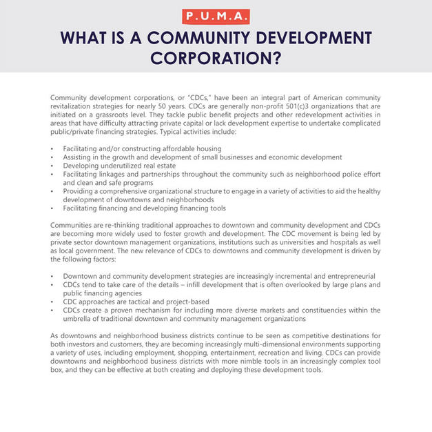 Community Development Corporations