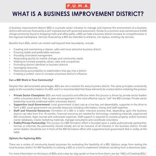 Business Improvement Districts