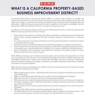 California PBIDs