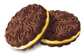 Печенье сах. сэндвич Внучка шоколадное со слив. кремом 1кг