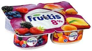 Йогуртный продукт пастер. Fruttis 8%  115г абрикос/манго/лесные ягоды