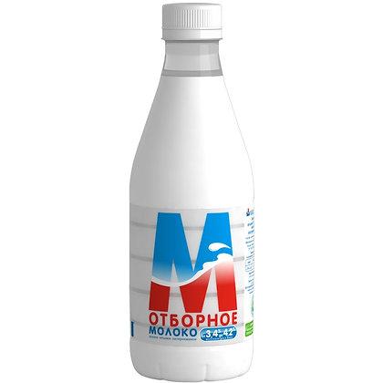 Молоко отборное 3.4-4.2% бзмж п/б 0.903л (0.93кг) Ижмолоко