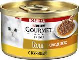 Gourmet Голд  с курицей соус-де-люкс 85г ж/б *