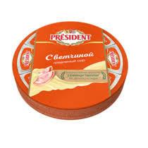PRESIDENT сыр плав. с ветчиной 4 5% 140г