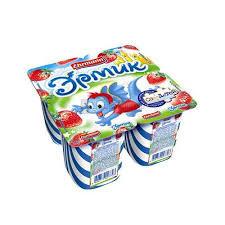 Йогуртный продукт Нежный с соком клубники 1.2% бзмж 100г  Campina