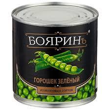Горошек зеленый из мозговых сортов 425мл ж/б  Боярин*