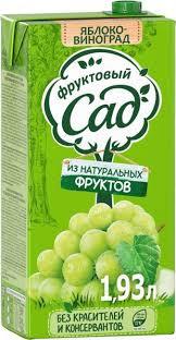 Нектар Яблоко-виноград. 1.93л Фруктовый сад*