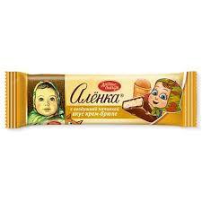 Шоколад Аленка с воздушн. нач. вкус крем-брюле 42г. Красный октябрь