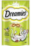 DREAMIES Лакомство д/кошек с лососем 60г *