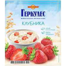 Геркулес моментальная овсяная каша Клубника 35г Русский продукт