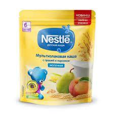 Каша молочная мультизлаковая с грушей и персиком 220гр Nestle *