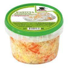 Капуста квашеная  с морковью  500г пэт/ведро Мистер салат