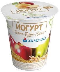 Йогурт Иж . с кус. Яблоко/груша/злаки 3.5% 150г. бзмж пл ст.