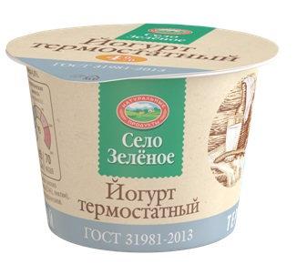Йогурт термостатный 4% 200гр бзмж  п/с Село Зеленое